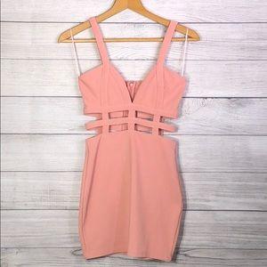 TOBI - Peach Colored, Strappy Dress - Small
